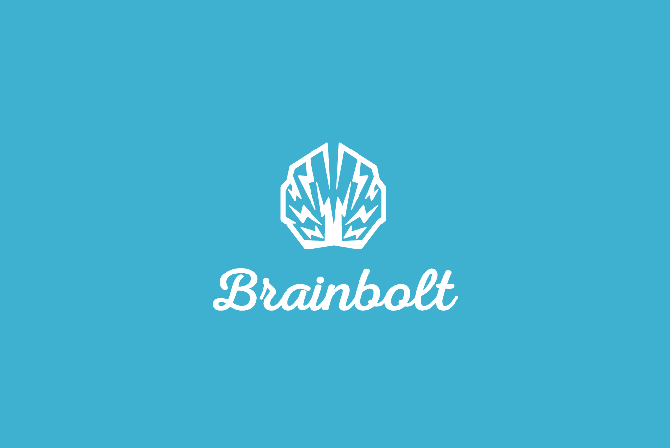brain bolt electric brain logo logo cowboy