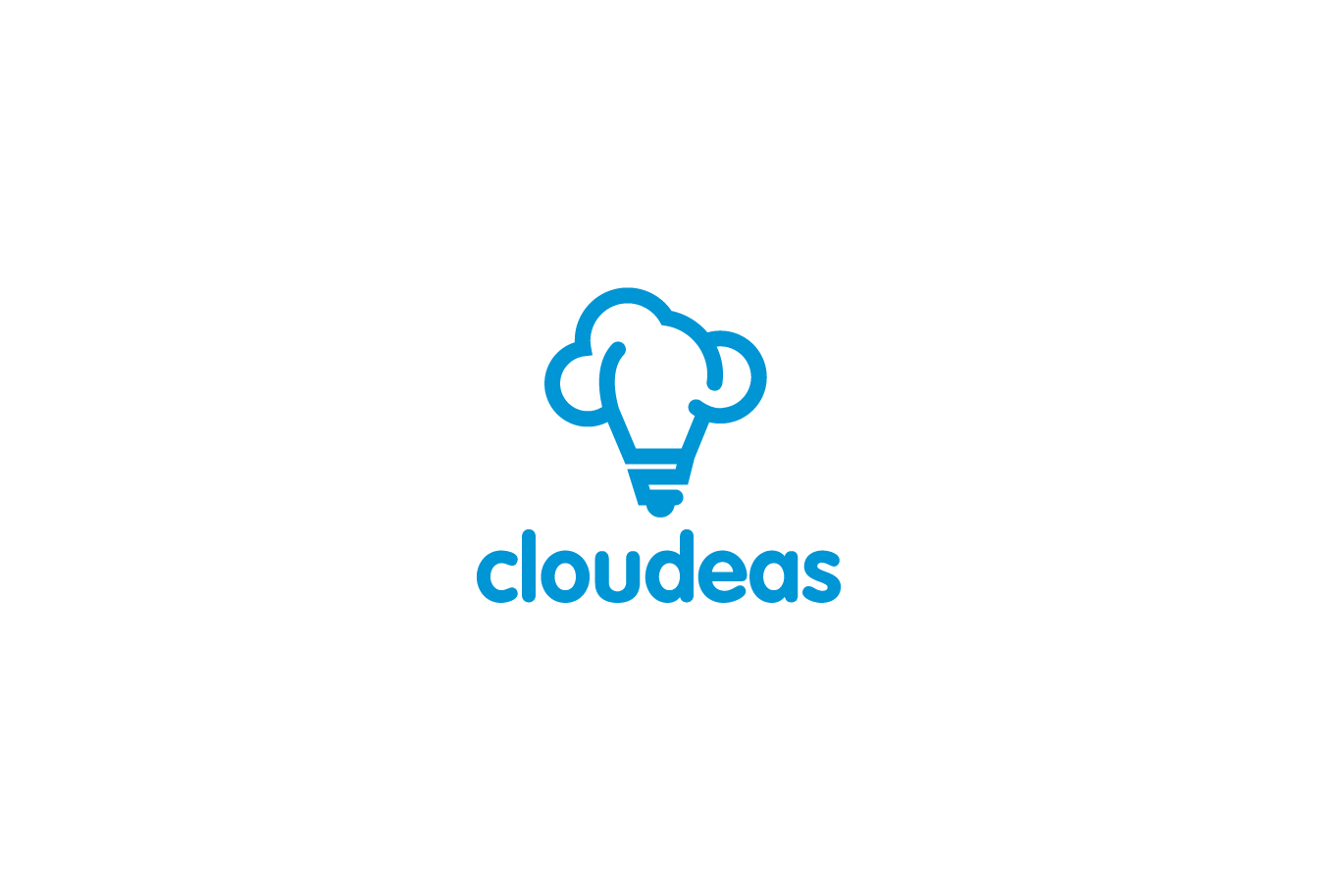 cloudeas lightbulb cloud logo logo cowboy