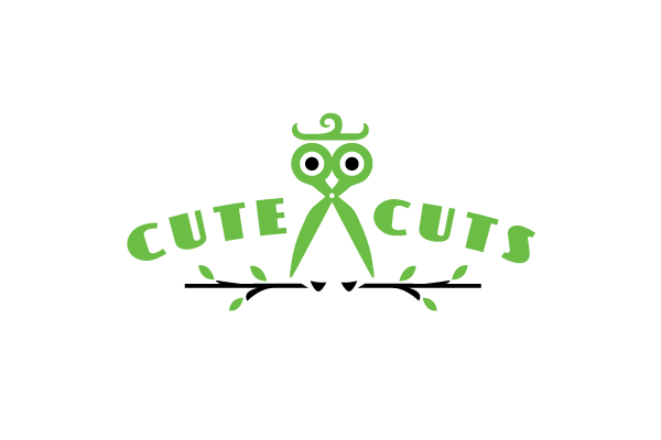 Cute Cuts Owl Scissors Logo Design Logo Cowboy