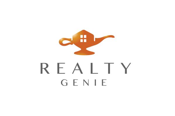 sold  u2013 realty genie lamp logo design  u2013 logo cowboy