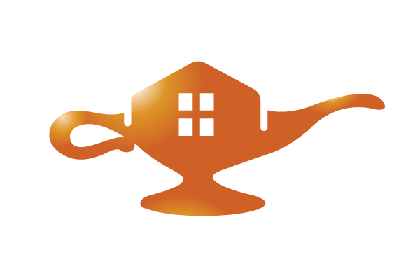 HomeSold Logo DesignsSOLD Realty Genie Lamp Design
