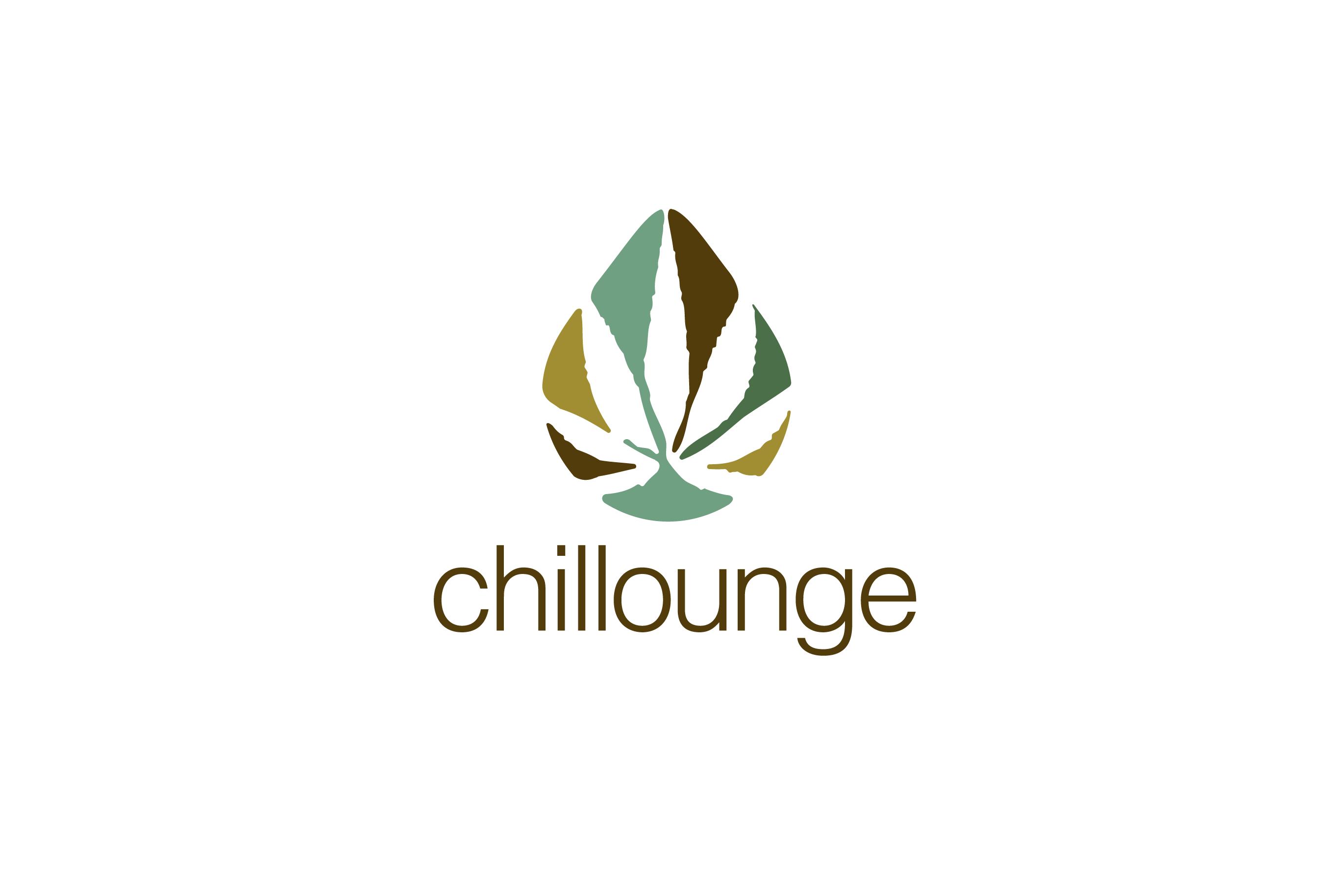 SOLD - ChillLounge Leaf Marijuana Logo Design - Logo Cowboy