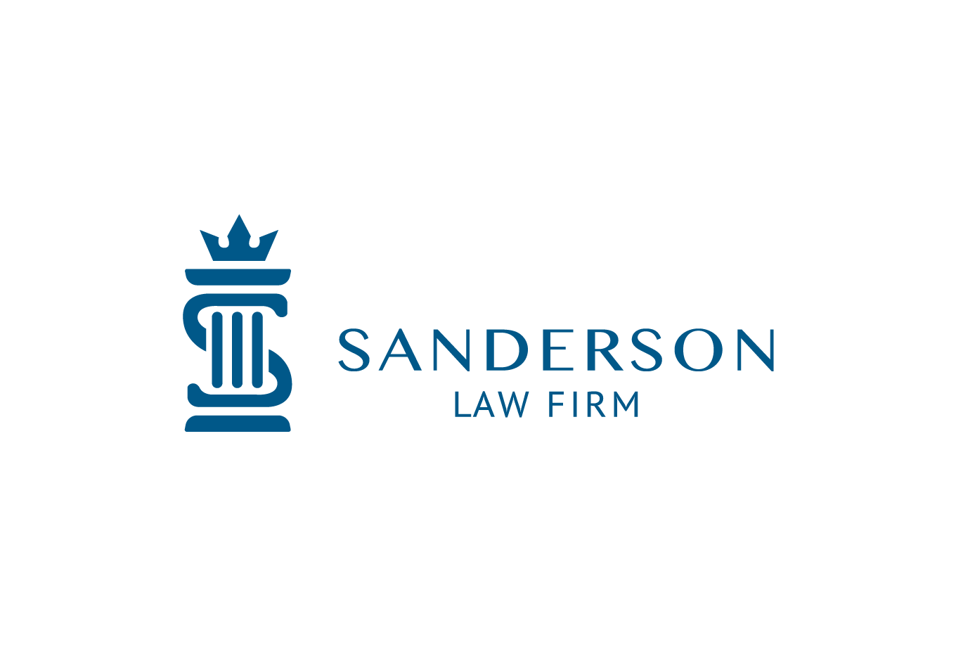 Sanderson law firm logo design letter s and letter r for Design firma