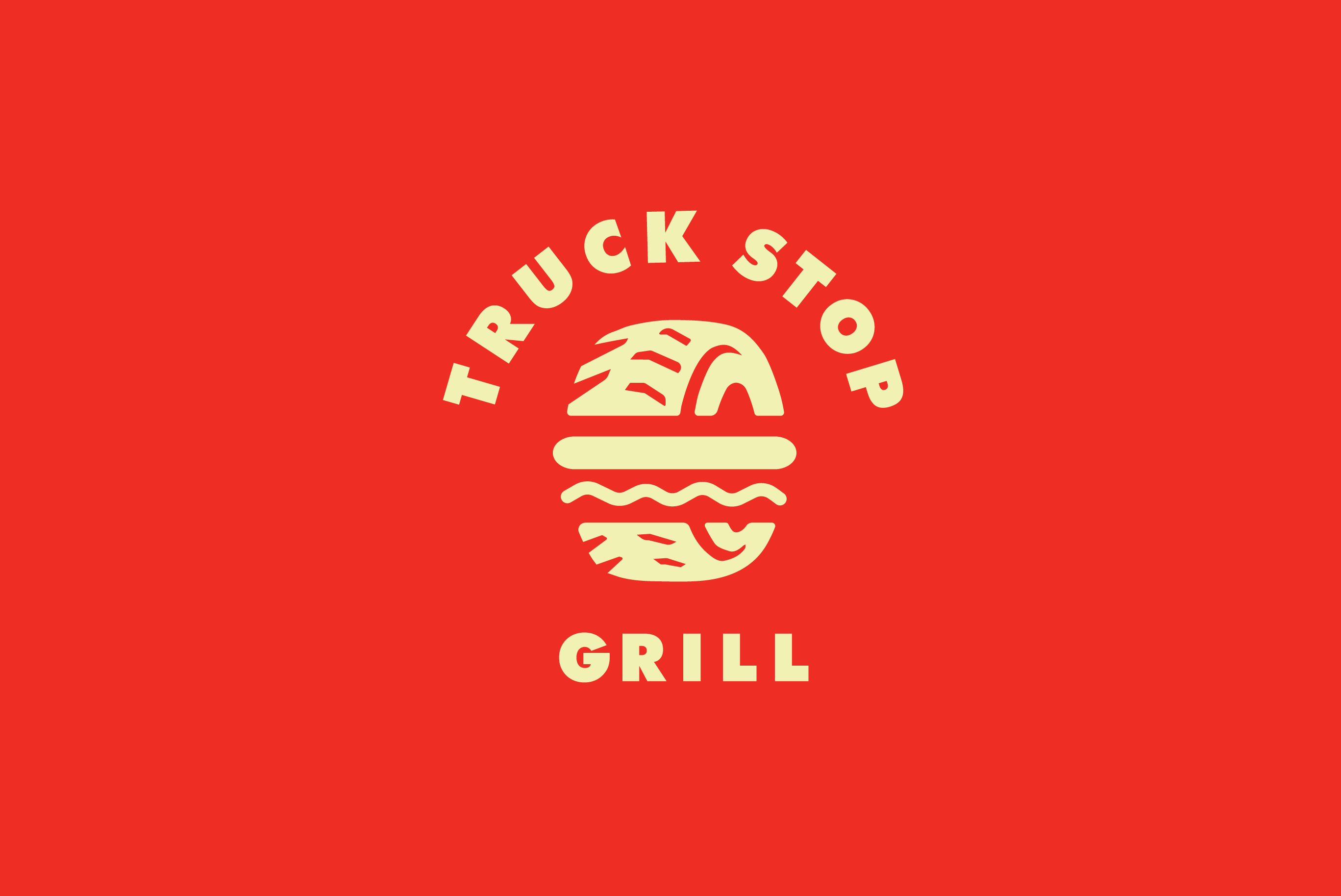 Lunch Truck For Sale >> Truck Stop Grill Logo Design – Logo Cowboy