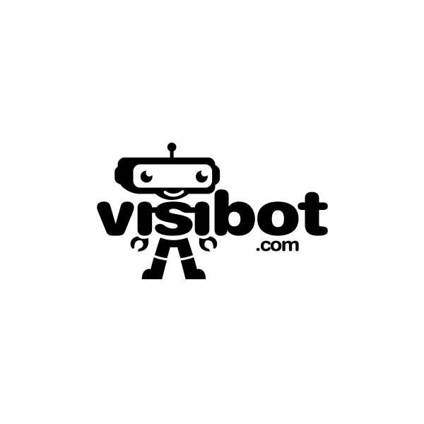 visibot robot logo design � sold out logo cowboy