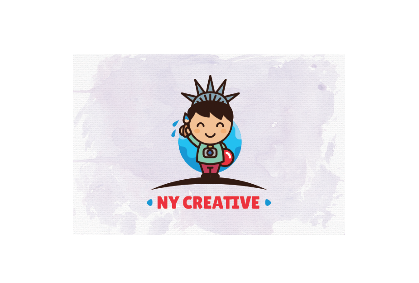 NY Creative Statue of Liberty Kid Logo Design