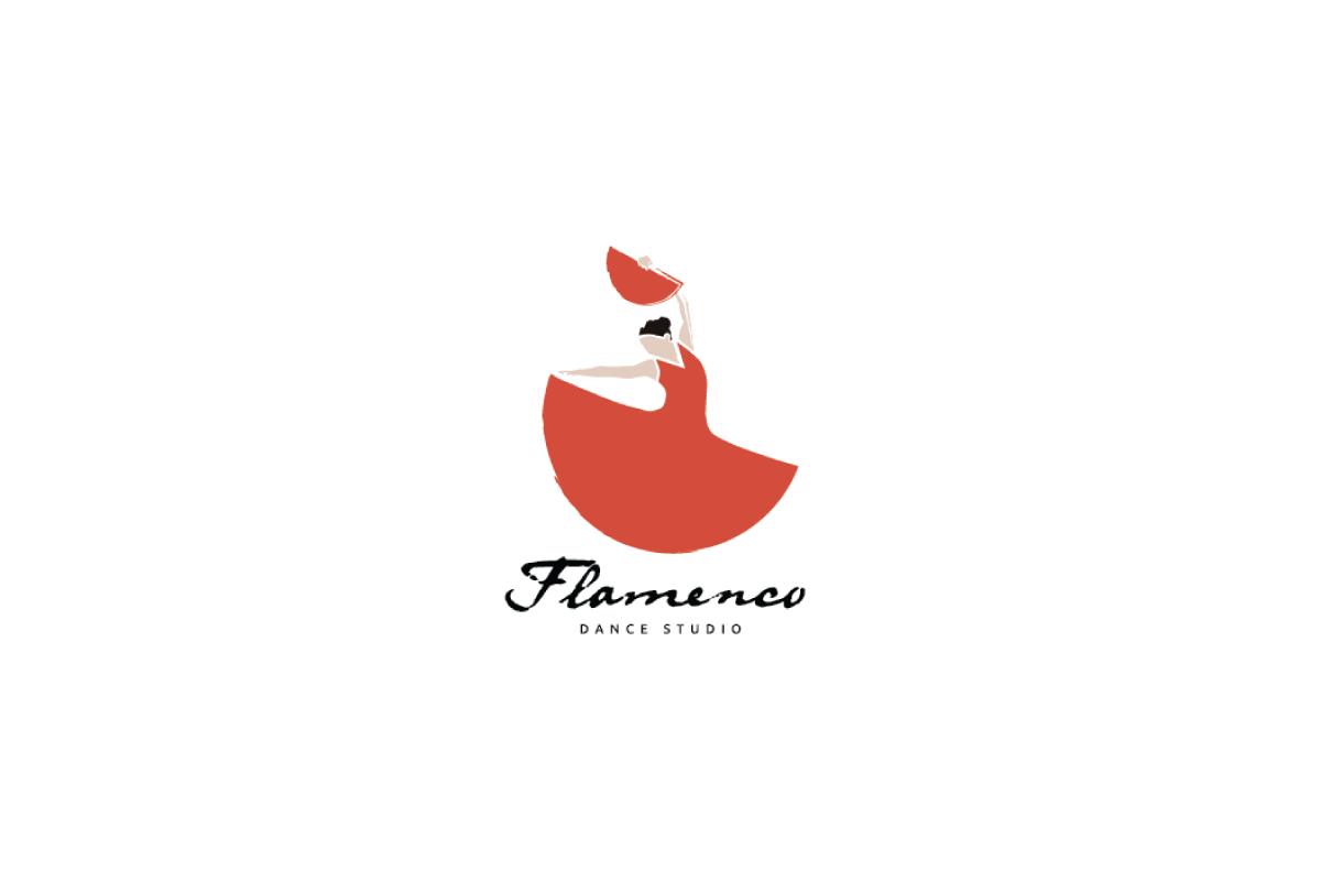 Flamenco flamingo dancer logo design logo cowboy for Design lago