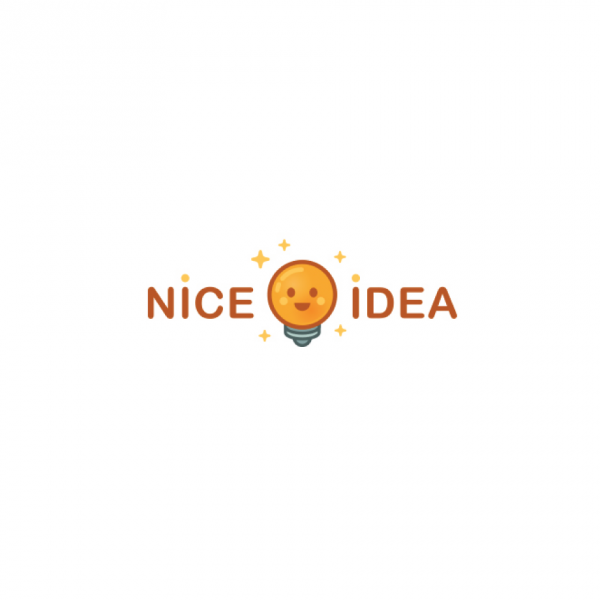 Nice Idea Lightbulb Logo Design