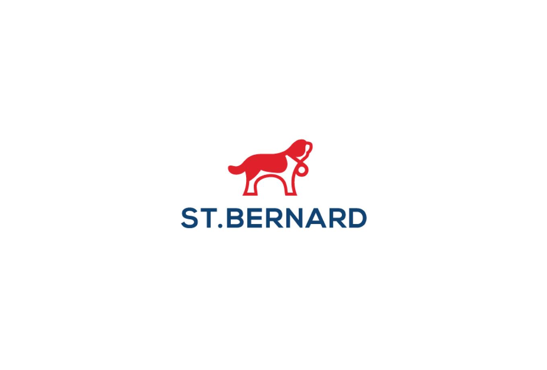 sold st bernard dog logo design logo cowboy