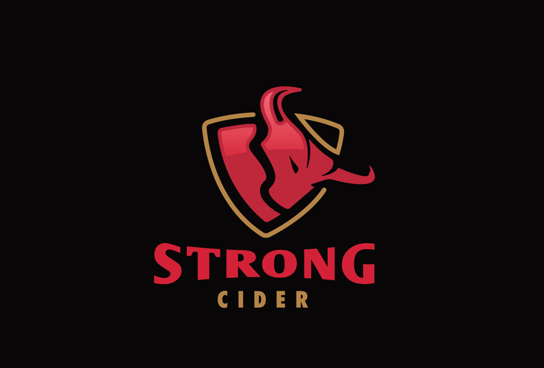 Strong Cider Bull Logo Design | Logo Cowboy