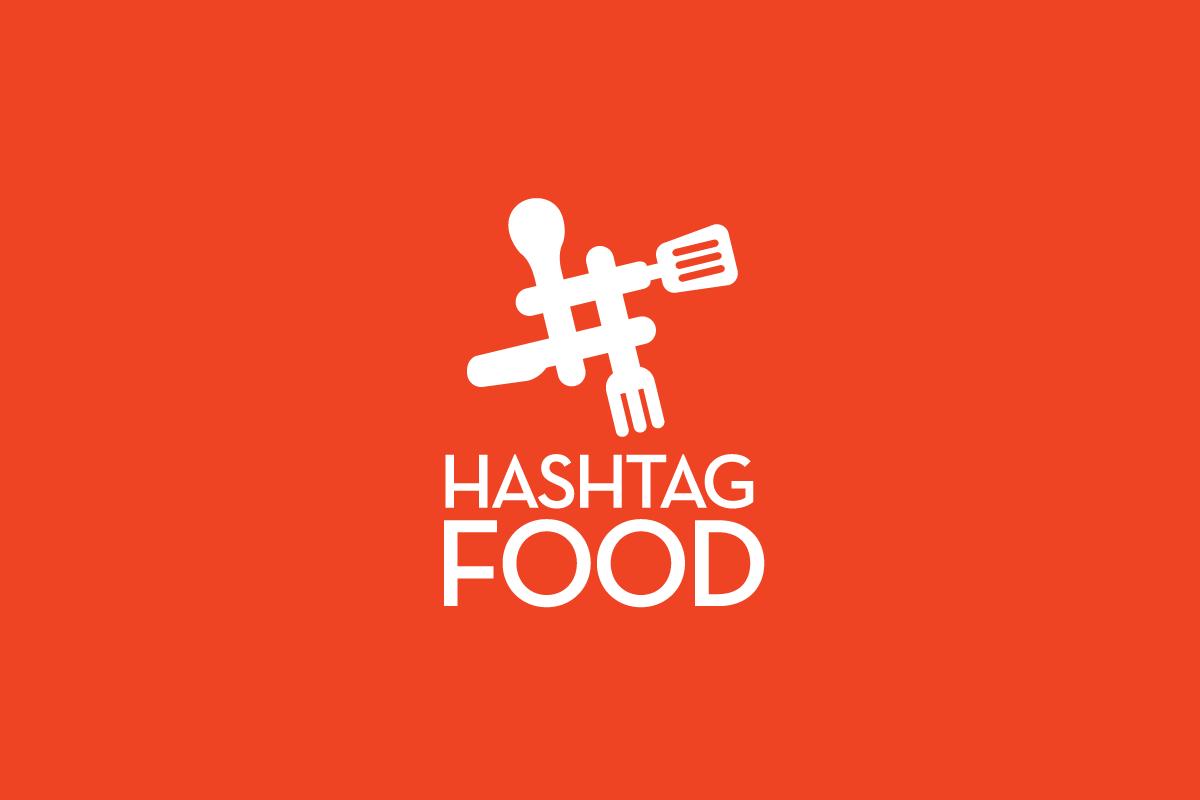 Hashtag food logo sold cowboy