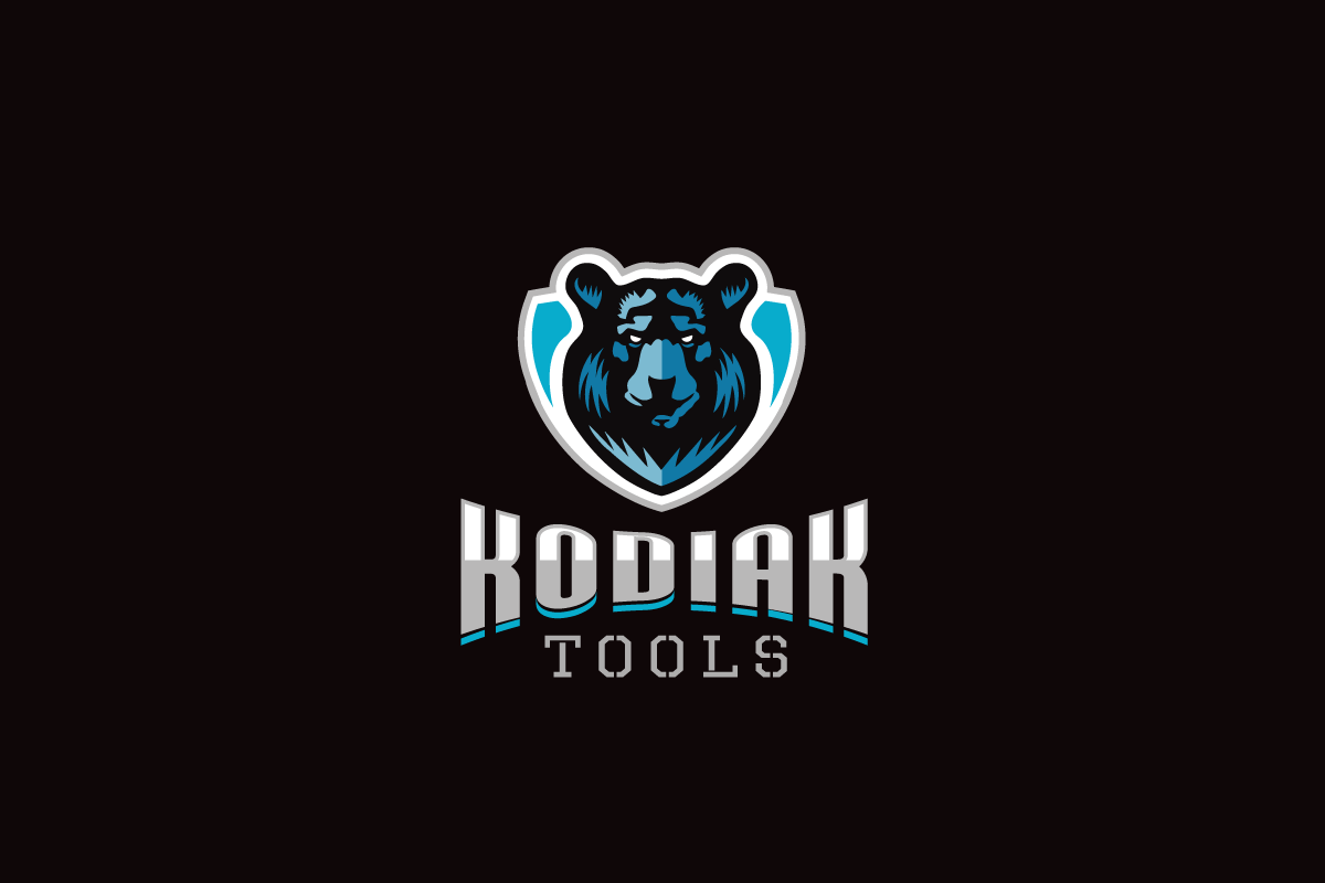 kodiak tools black bear shield logo