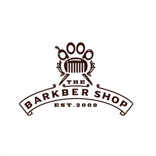 The Barkbershop—Dog Grooming Logo Design | Logo Cowboy