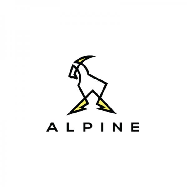 SOLD – Alpine Goat Logo Design | Logo Cowboy