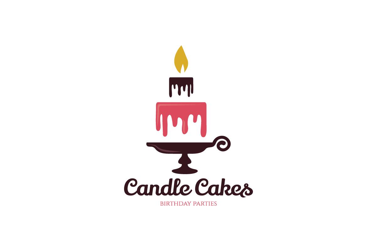 candle cakes logo design logo cowboy