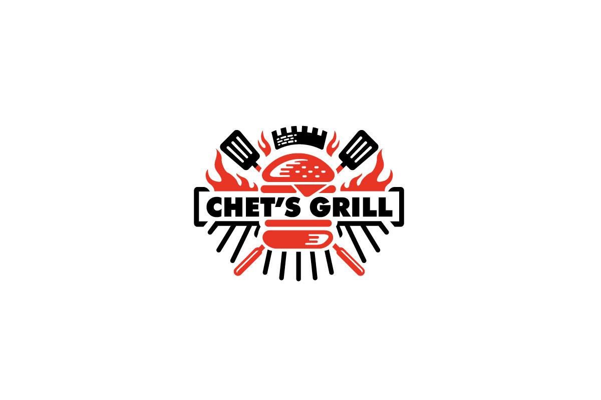 chet u2019s grill restaurant logo logo cowboy auto repair shop design layout auto repair shop design layout
