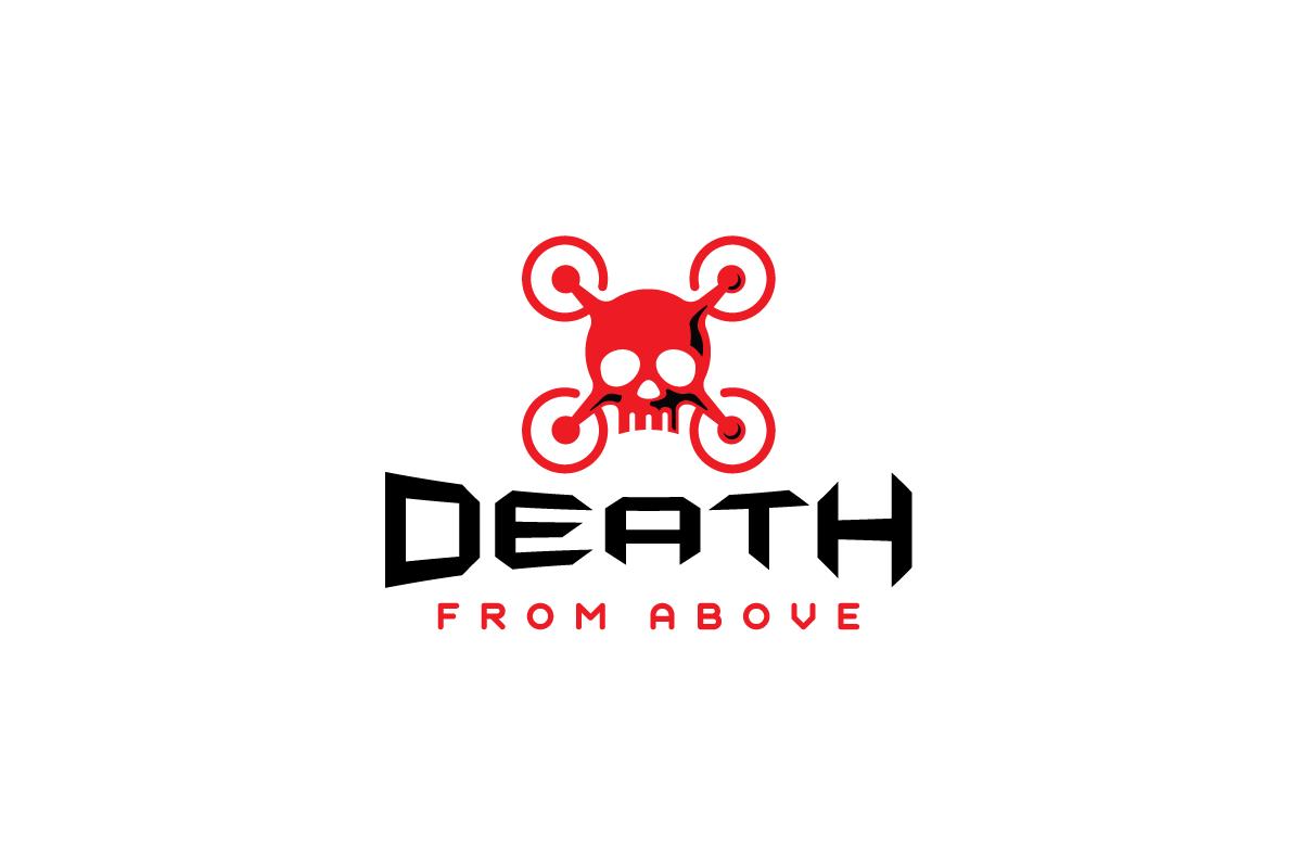 death from above u2014drone skull logo design