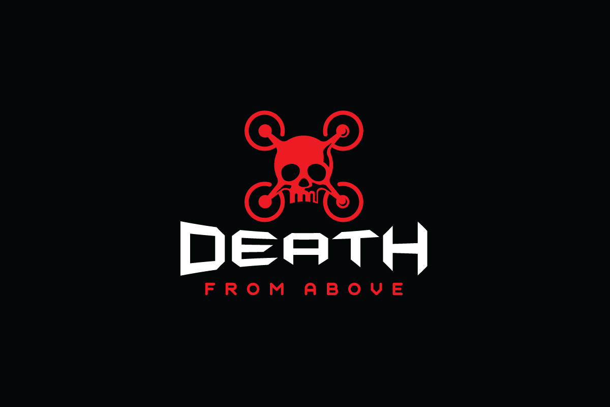 Death from Above—Drone Skull Logo Design - Logo Cowboy