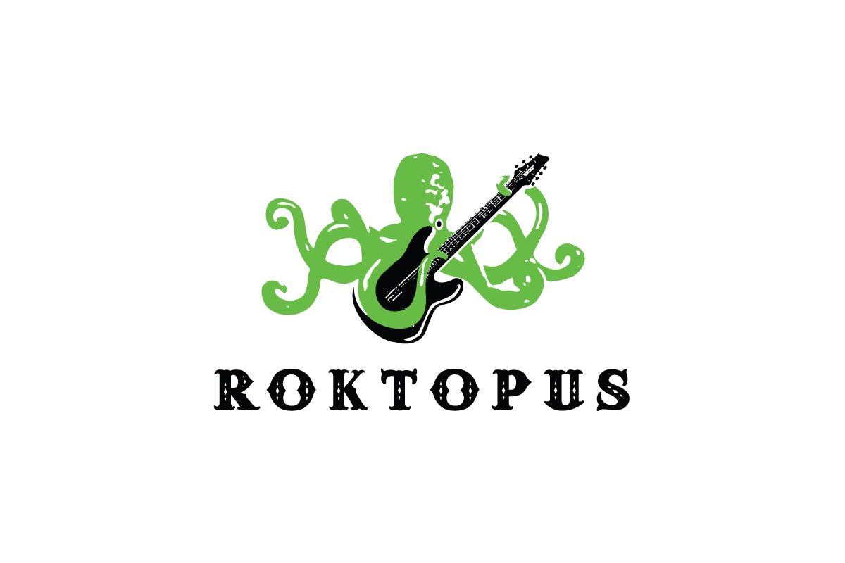 Rocktopus guitar playing octopus logo design logo cowboy for Design lago