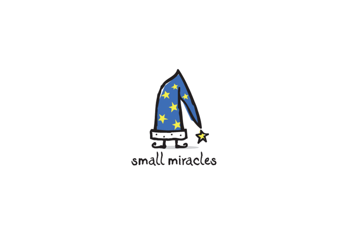 Small miracles wizard hat logo design logo cowboy for Logo creation wizard