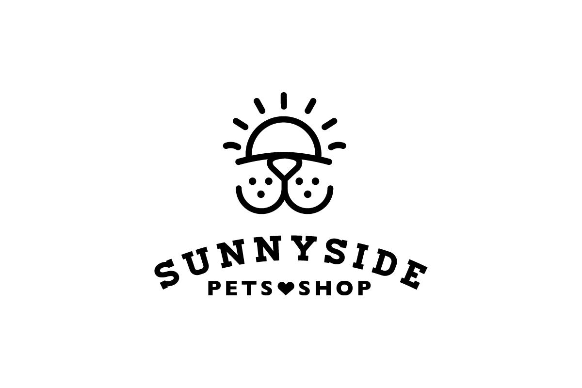 sunnyside pet shop logo design logo cowboy
