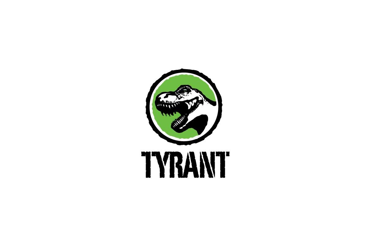 tyrant dinosaur trex tyrannosaurus rex logo design logo