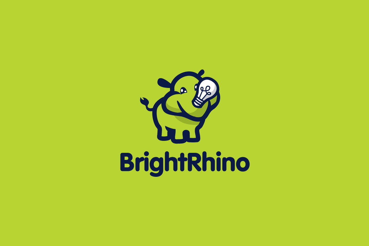 HomeDesigned By Gregory GrigoriouBright Rhino Light Bulb Logo Design