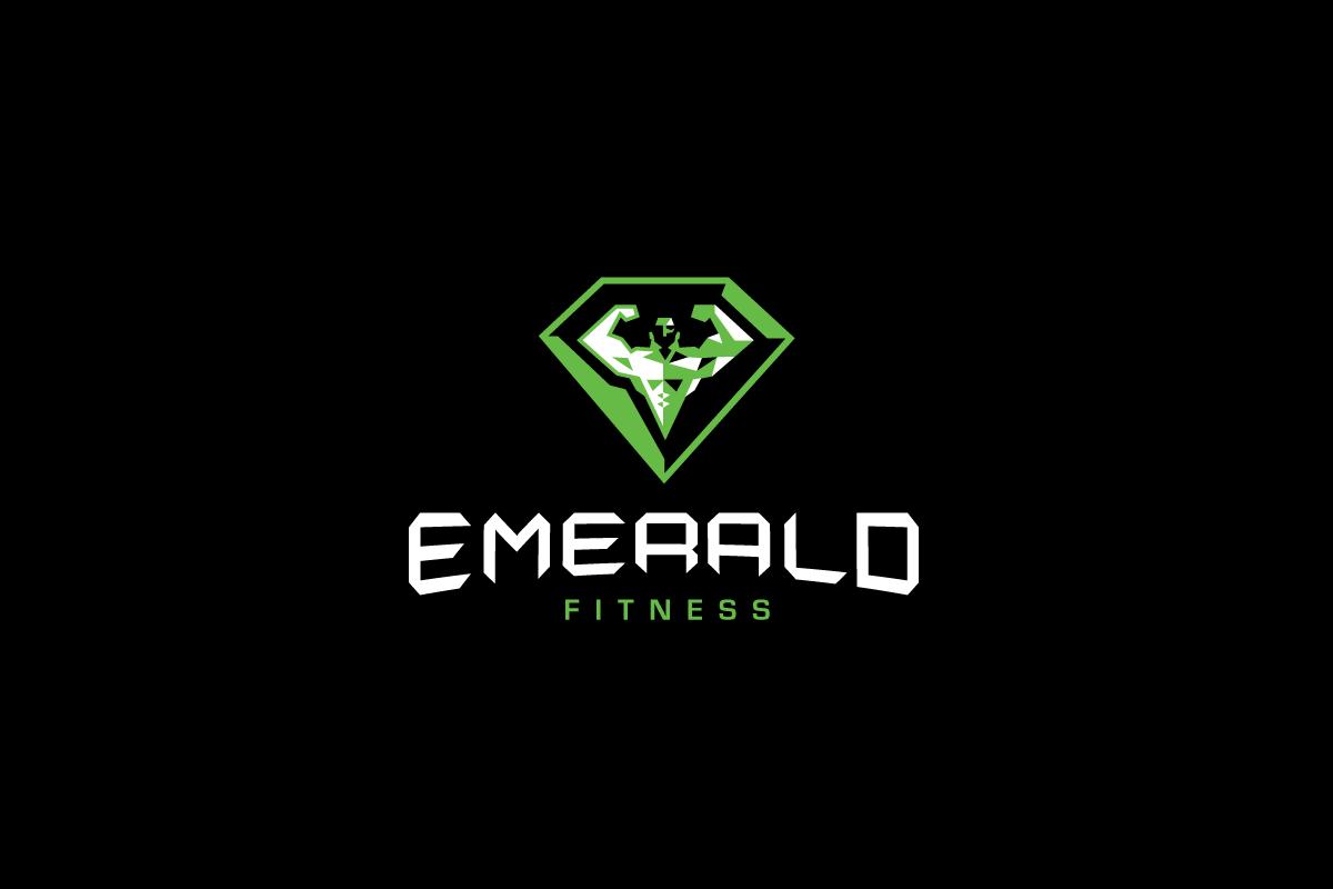emerald fitness logo design  u2013 logo cowboy