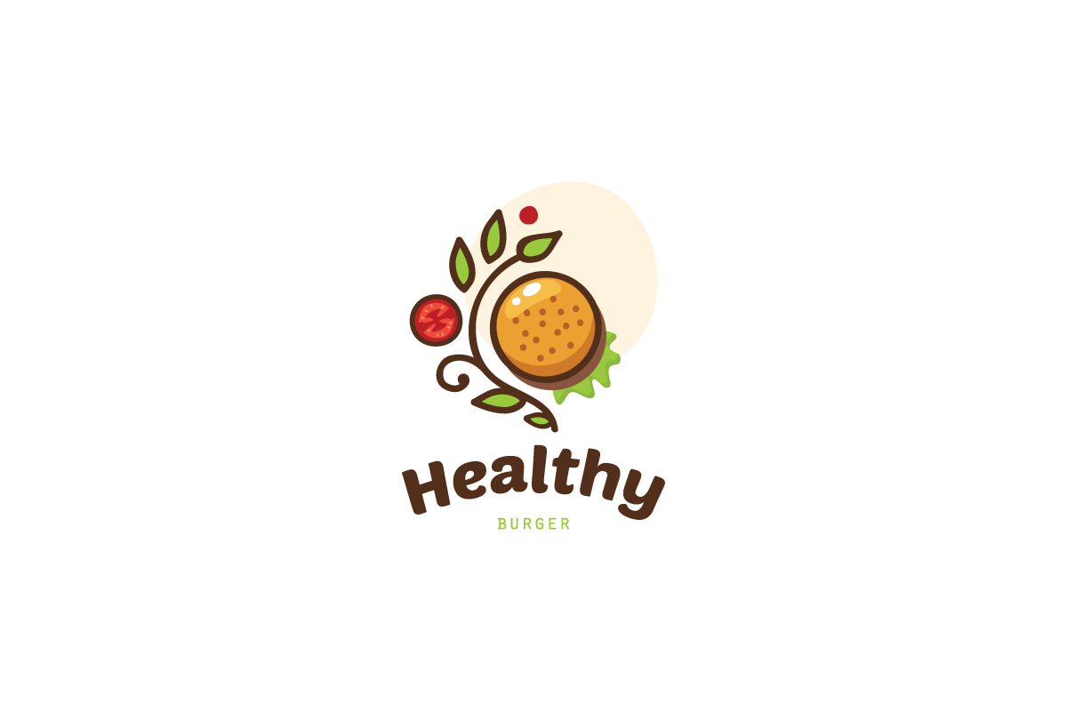 Healthy burger logo food logo design logo cowboy for Healthy home designs