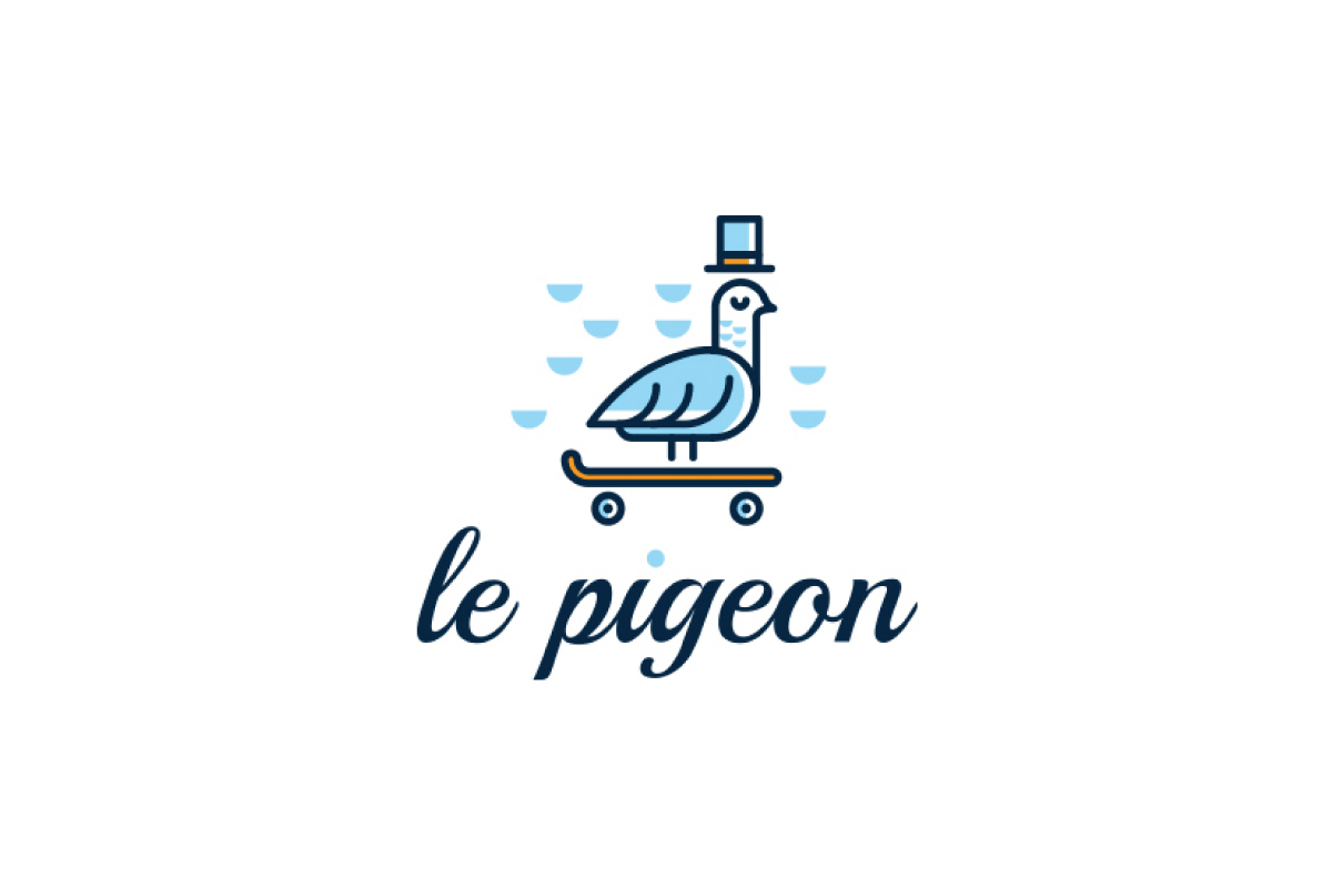 Le pigeon logo design logo cowboy for Design lago