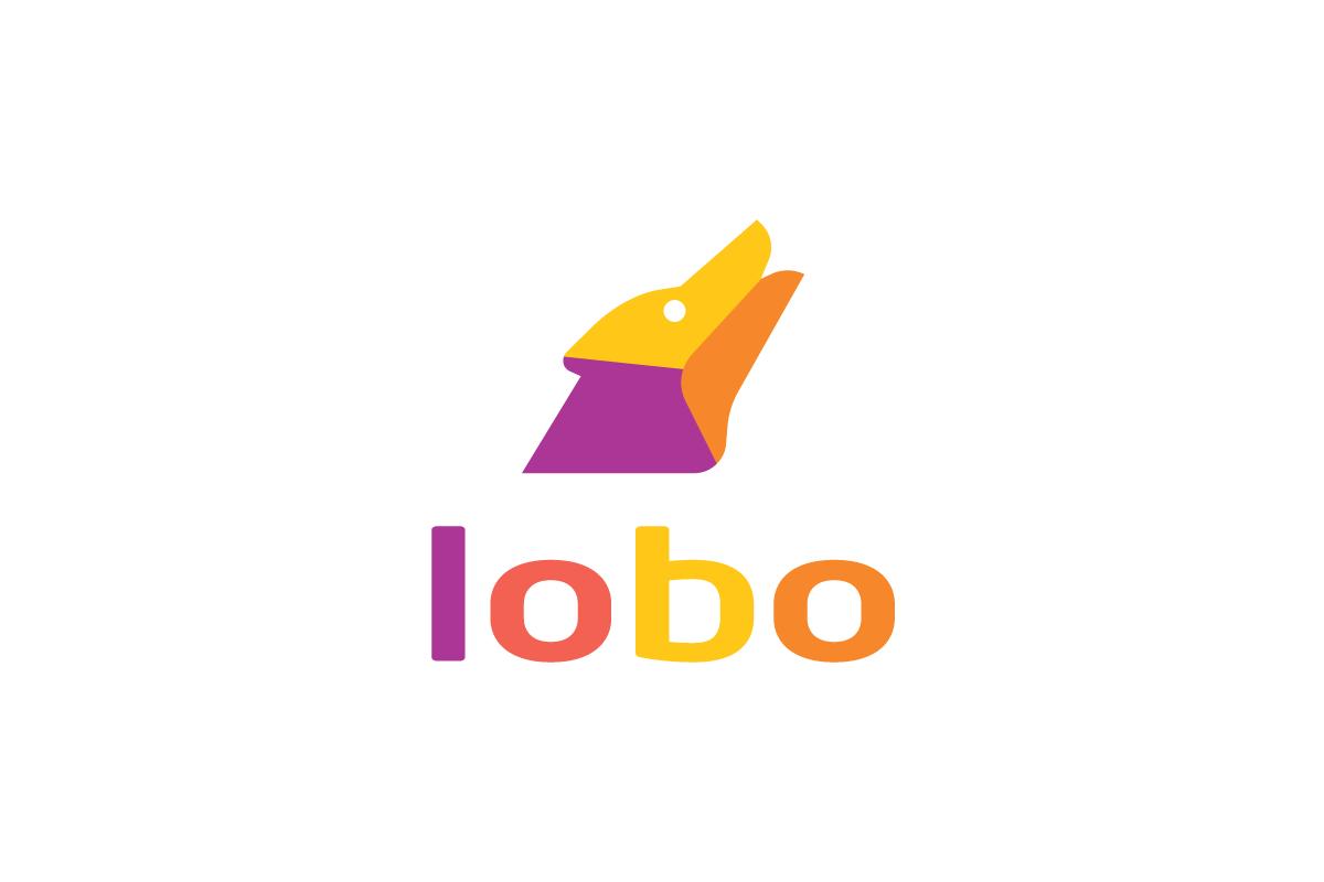 lobo howling wolf logo design logo cowboy