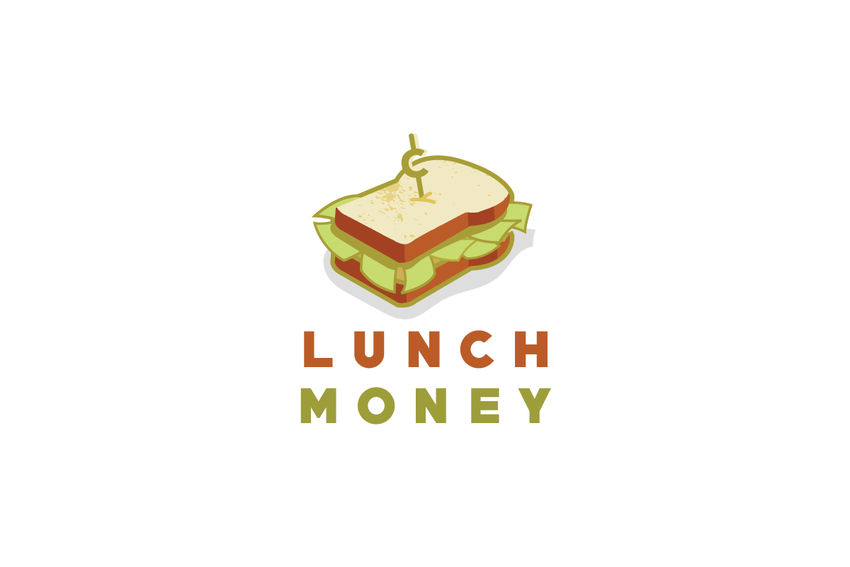 Lunch Money – Sandwich Money Logo Design | Logo Cowboy