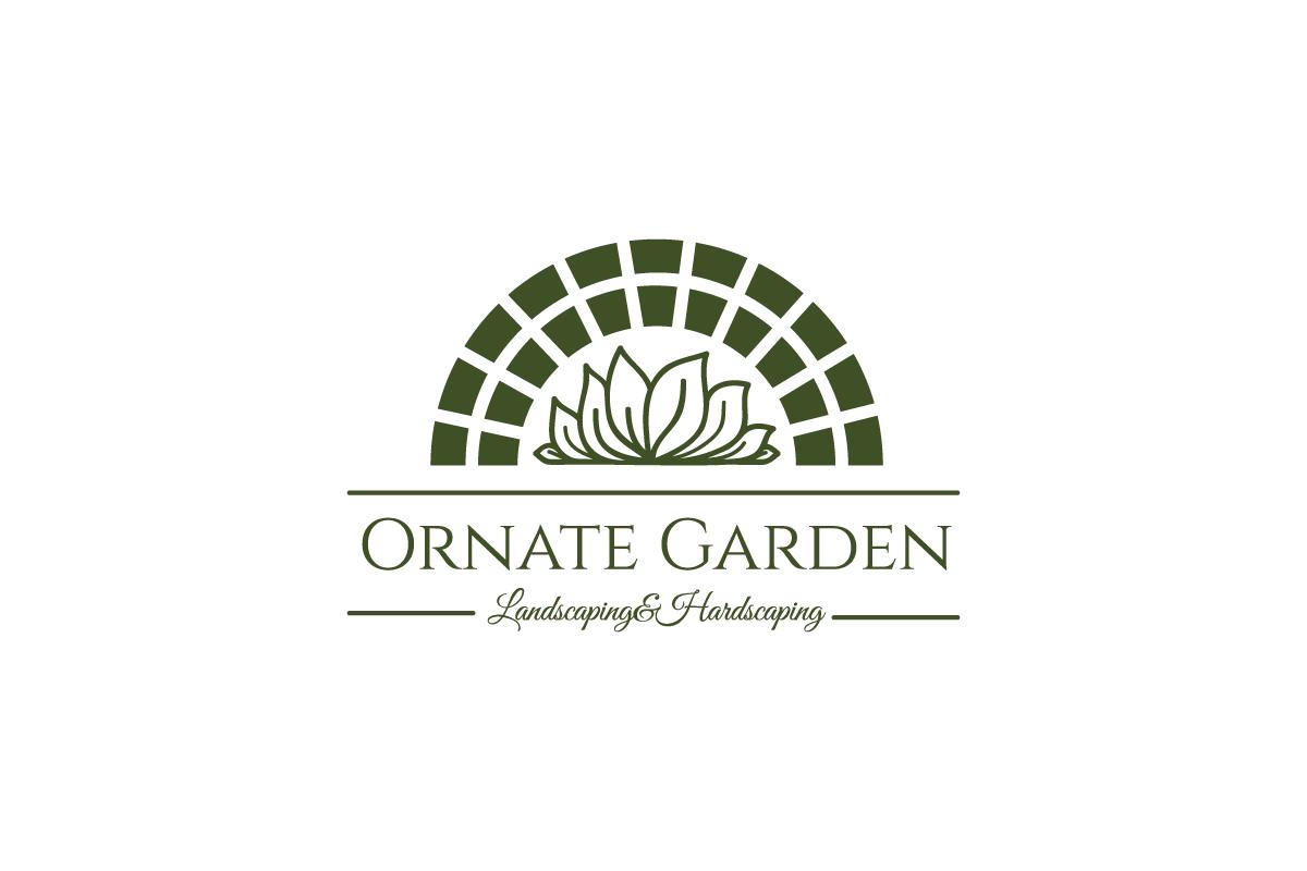Ornate Garden Landscaping Logo Design - Logo Cowboy