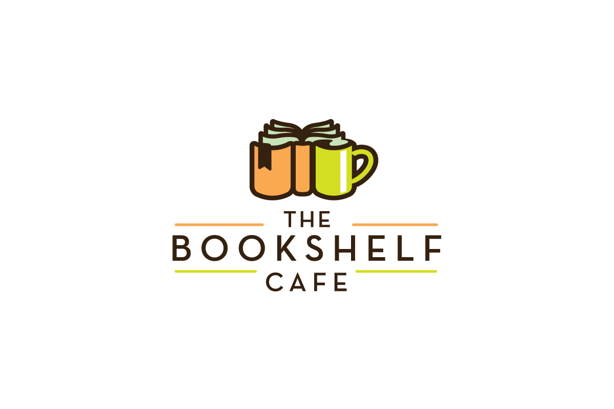 The Bookshelf Cafe Logo Design Logo Cowboy