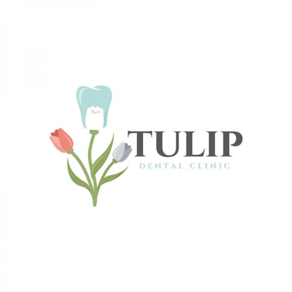 SOLD – Tulip Dental Clinic Logo Design | Logo Cowboy
