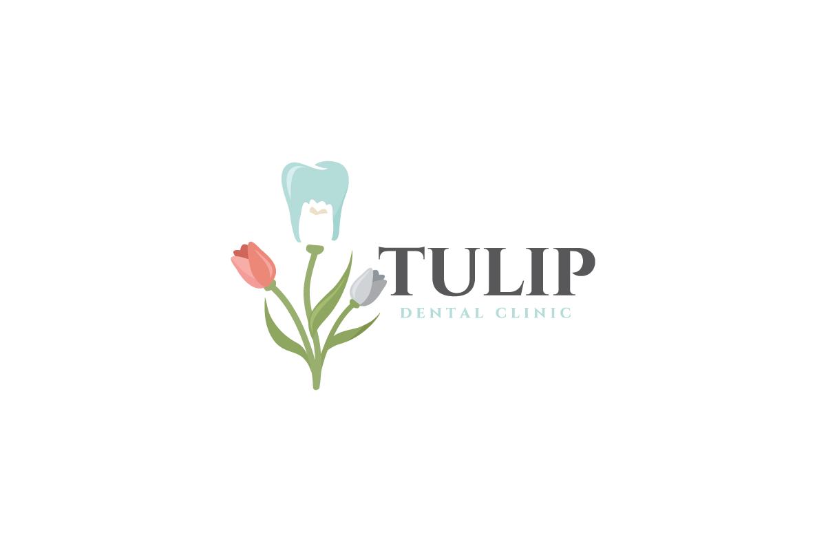 sold  u2013 tulip dental clinic logo design  u2013 logo cowboy