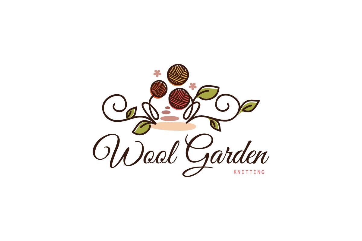 Knitting Club Logo : Wool garden knitting logo design cowboy
