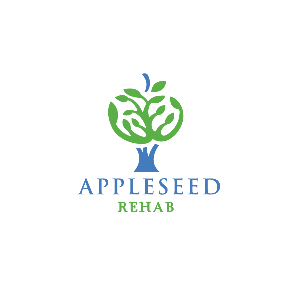 Rehabilitation Logo Design Appleseed Rehab—Tree...
