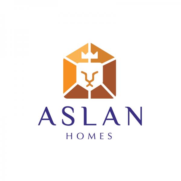 homes logo designs. home\u003edesigned by gregory grigoriou\u003easlan homes\u2014lion house logo design homes designs