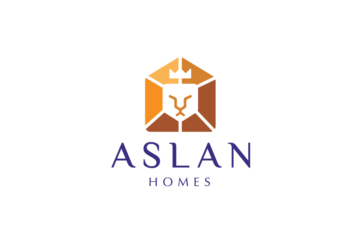 Aslan Homes—Lion House Logo Design | Logo Cowboy
