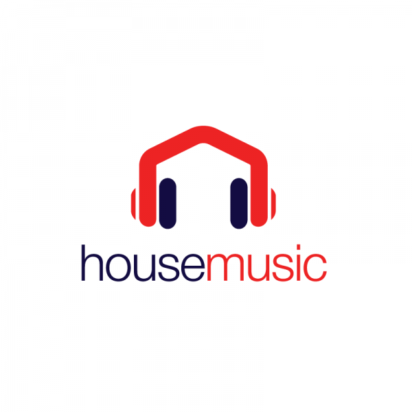 House Music Headphones Logo Design