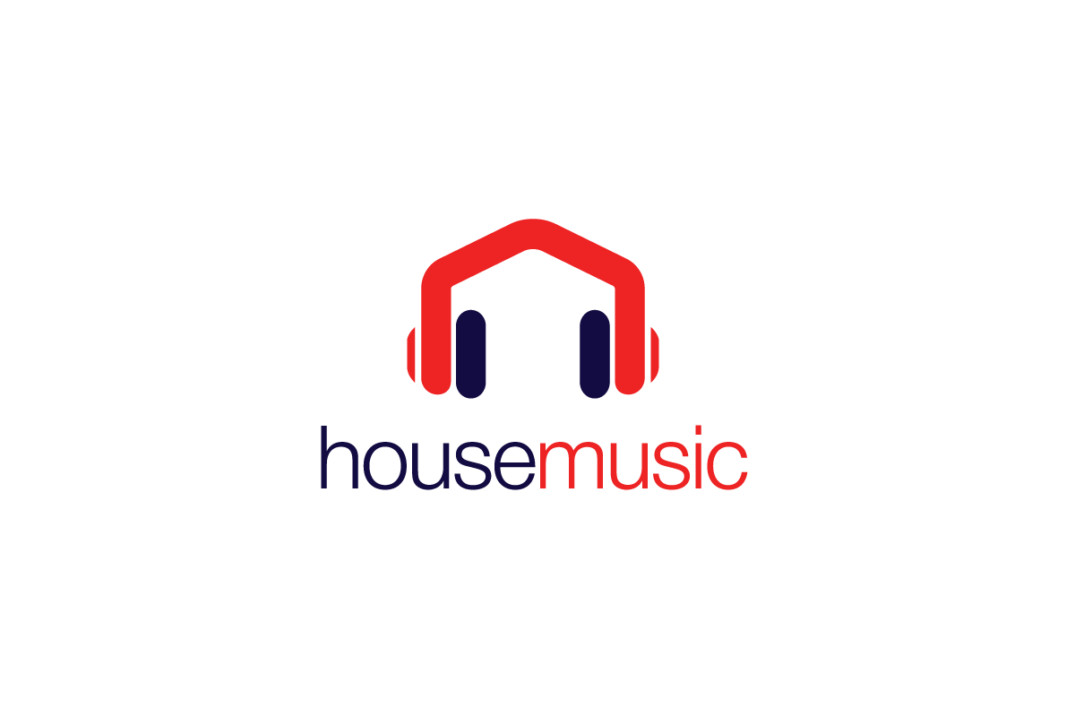 House Color Combination House Music Headphones Logo Design Logo Cowboy