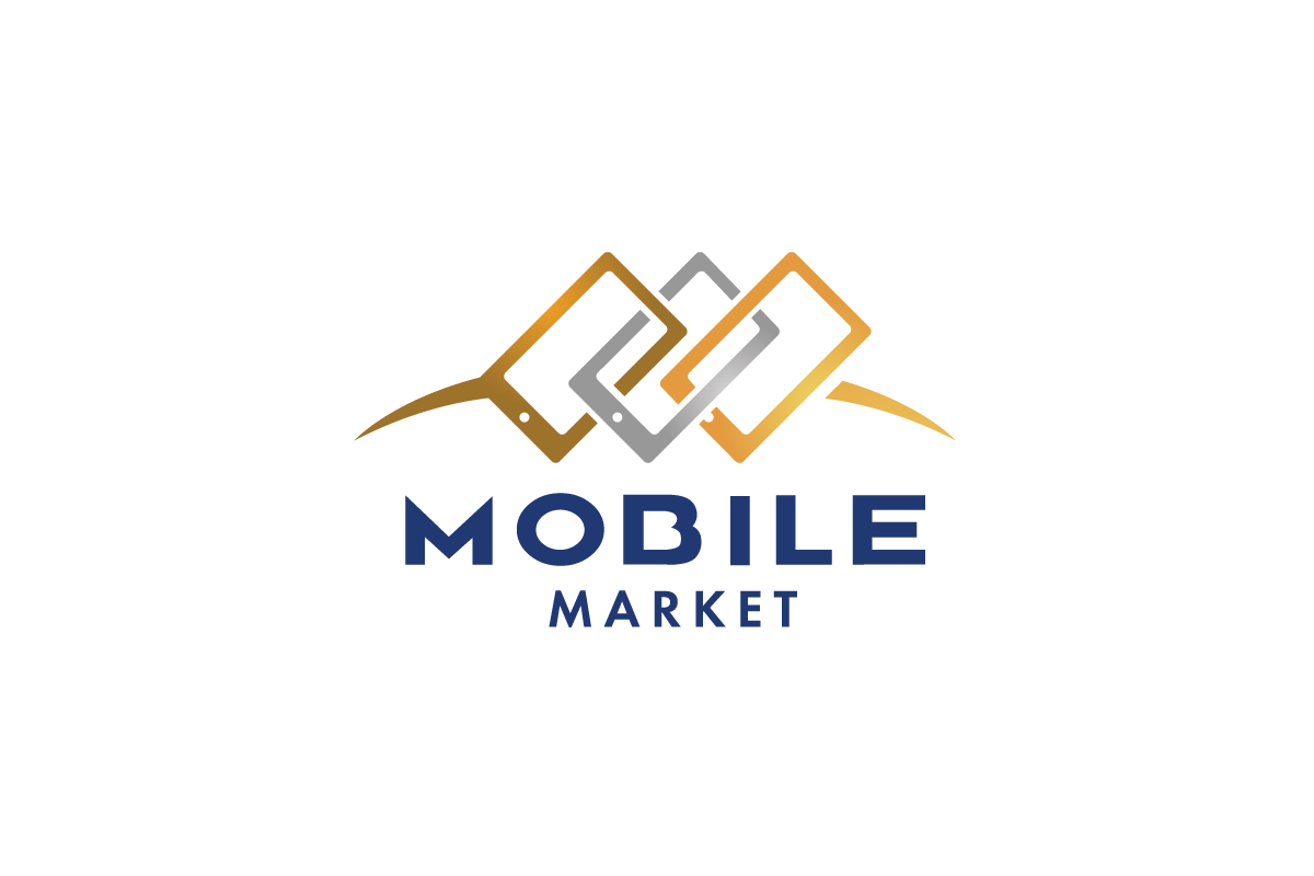 Sold mobilemarket cell phone logo design logo cowboy for Logo mobile