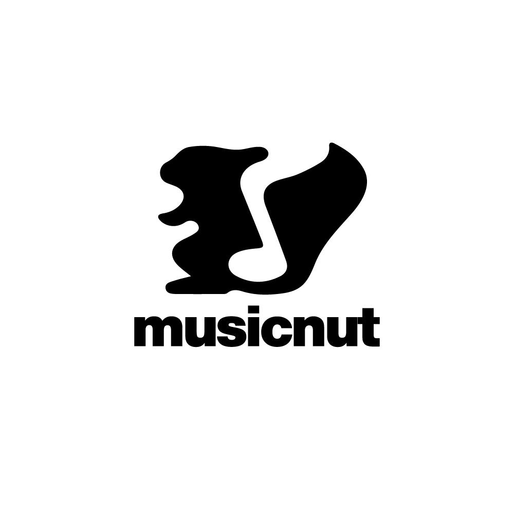 musicnut u2014squirrel music note logo design logo cowboy