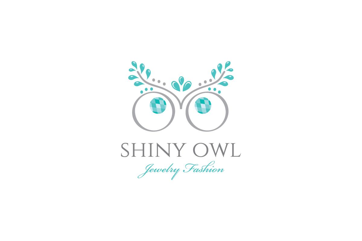 Shiny Owl Jewelry Logo Design Logo Cowboy