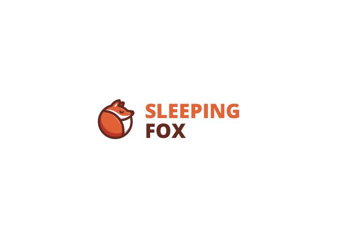 Sleeping Fox Logo Design