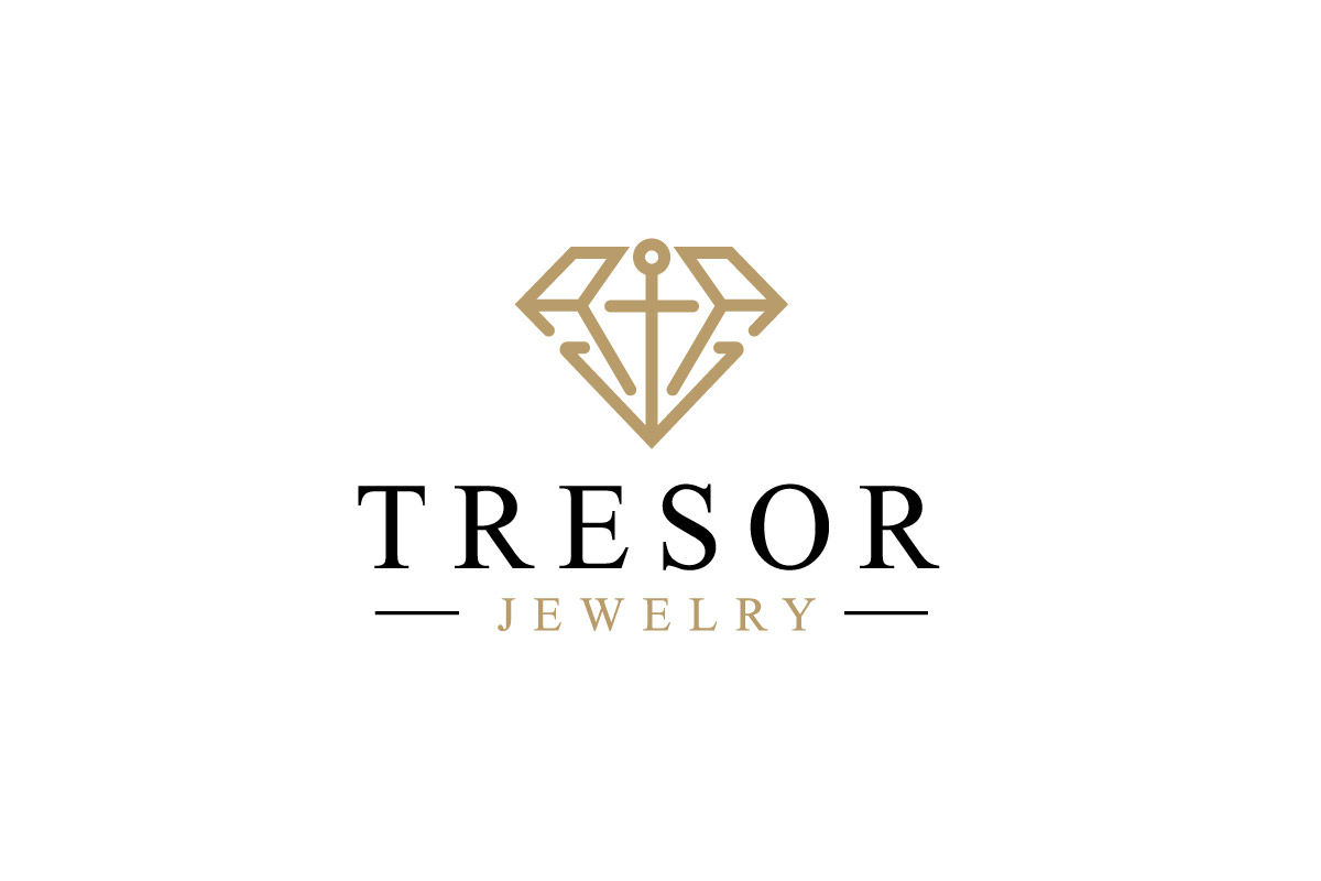 tresor jewelry � anchor and diamon logo design logo cowboy