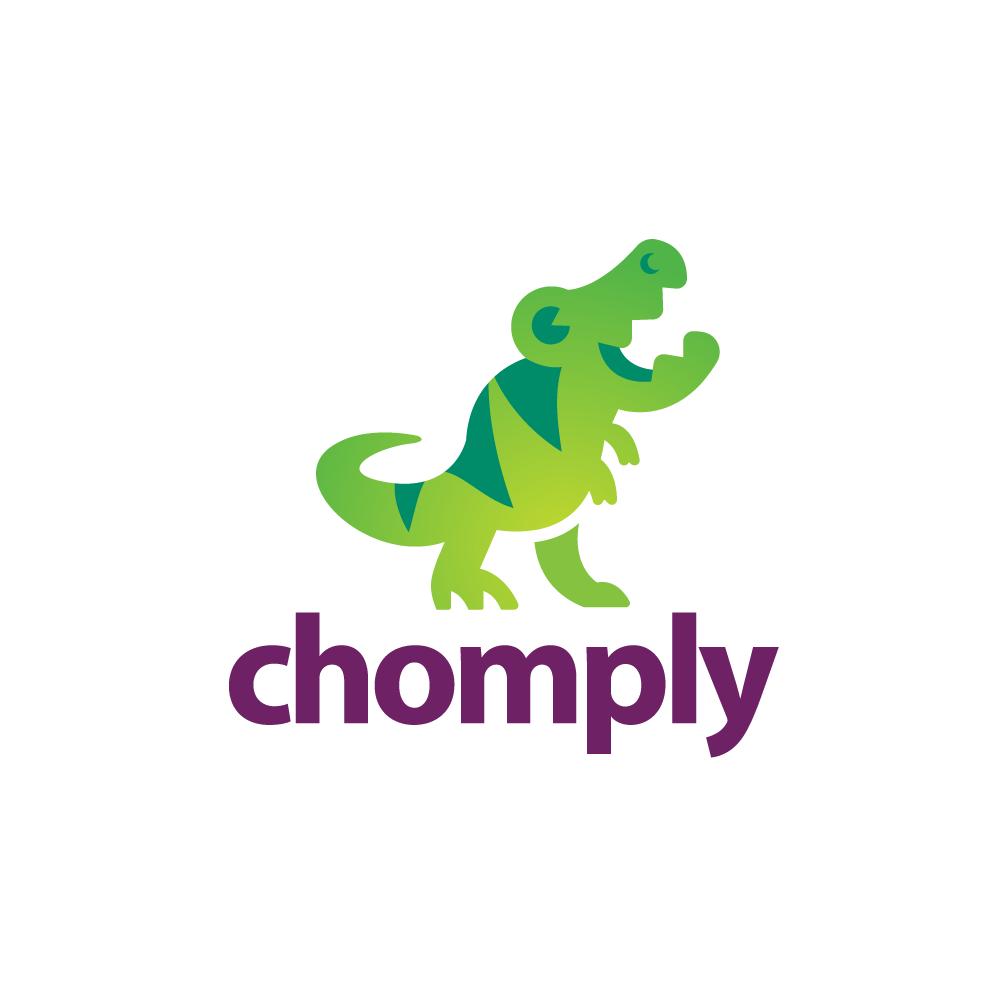 chomply�dinosaur trex logo design logo cowboy