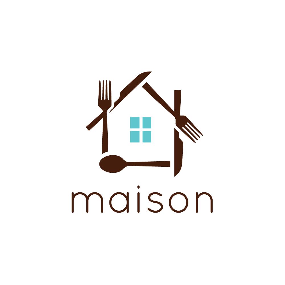 Maison house cutlery logo design logo cowboy for Maison design