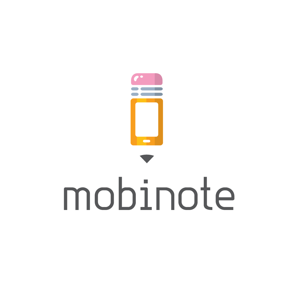 sold � mobinote�mobile phone pencil logo design logo cowboy